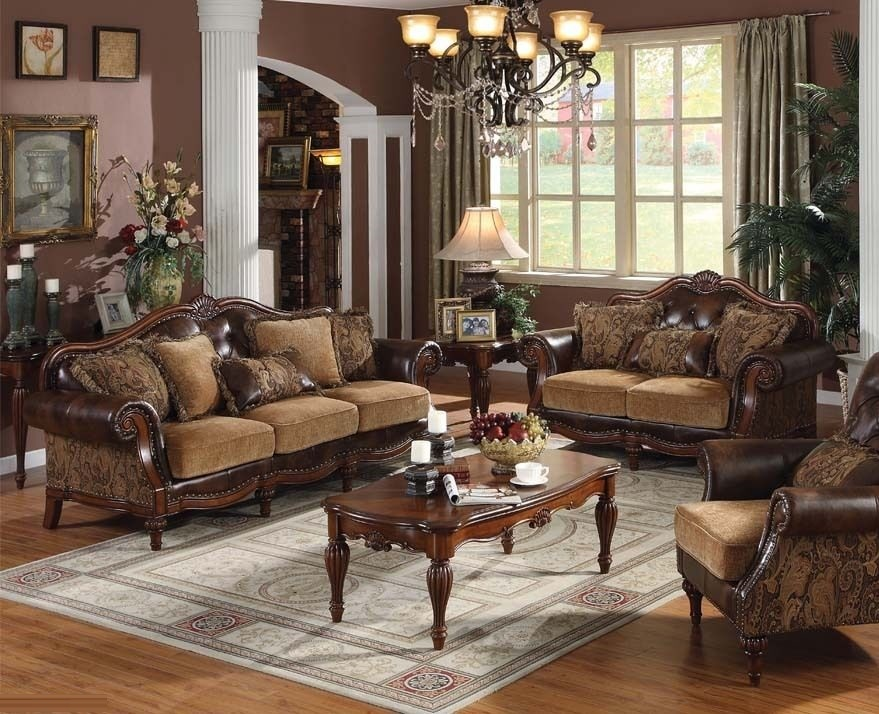 Leather Furniture Traveler Collection: Formal Leather Sofa Loveseat Chair Set Acme