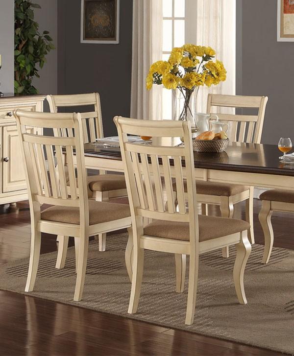 Cream Dining Set: Traditional Cream Dining Set, Poundex #F2343