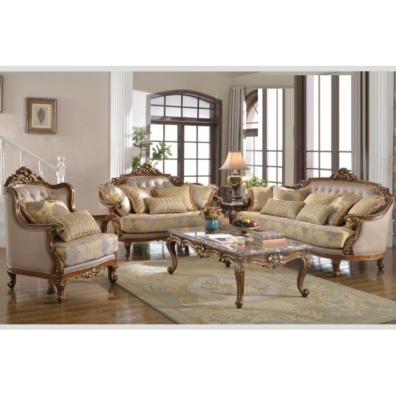 Traditional Sofas Living Room Furniture: Traditional Sofa Set Living Room Furniture