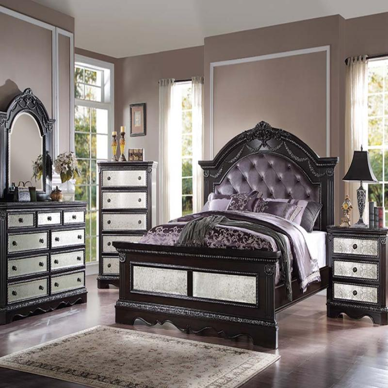 acme furniture silver queen bedroom set #20920q | hot