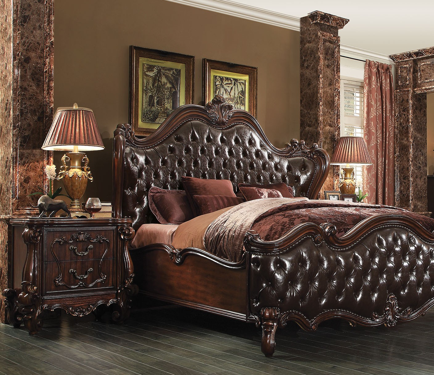 traditional cherry california king size 4pc bedroom set 21114ck