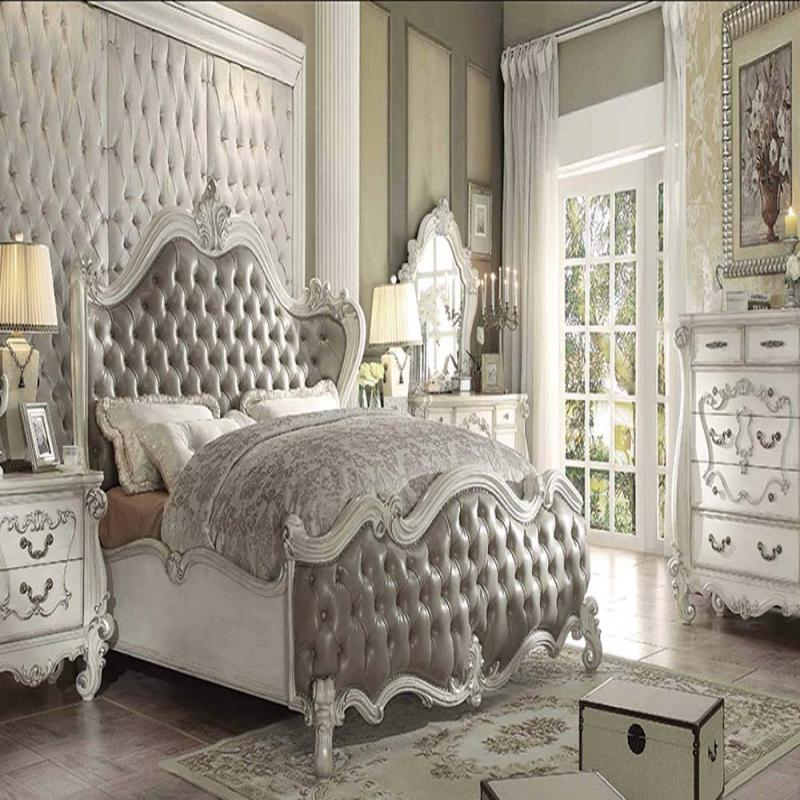 Formal vintage gray king bedroom set acme hot sectionals for Gray bedroom furniture sets