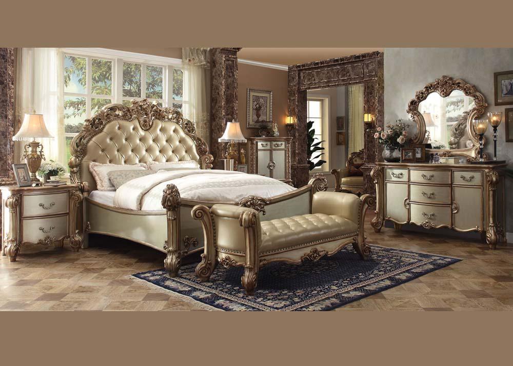 Acme Furniture Queen Bedroom Set Gold #23000Q | Hot Sectionals
