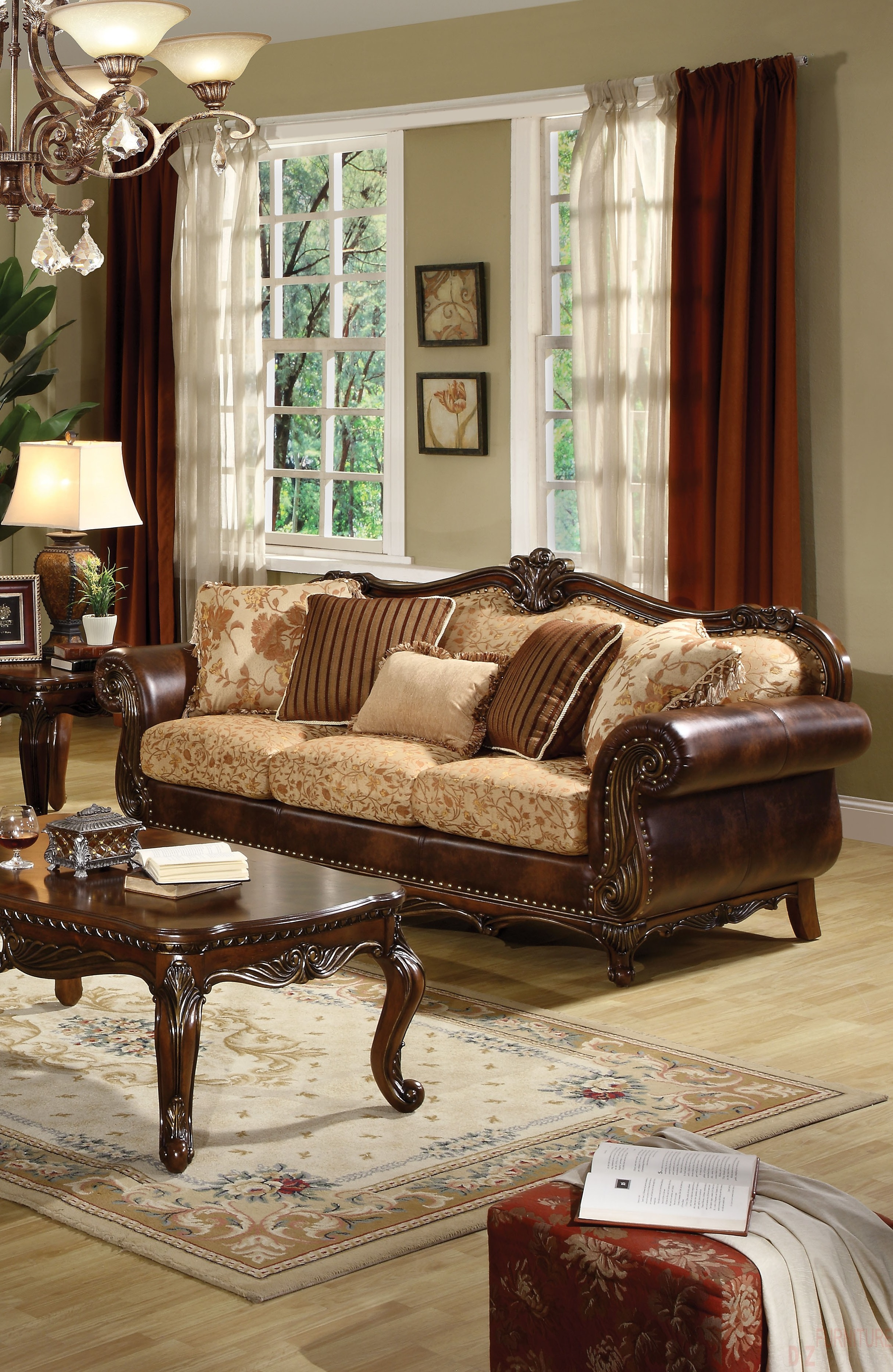 3pc sofa set acme formal living room hot sectionals for Classic traditional furniture