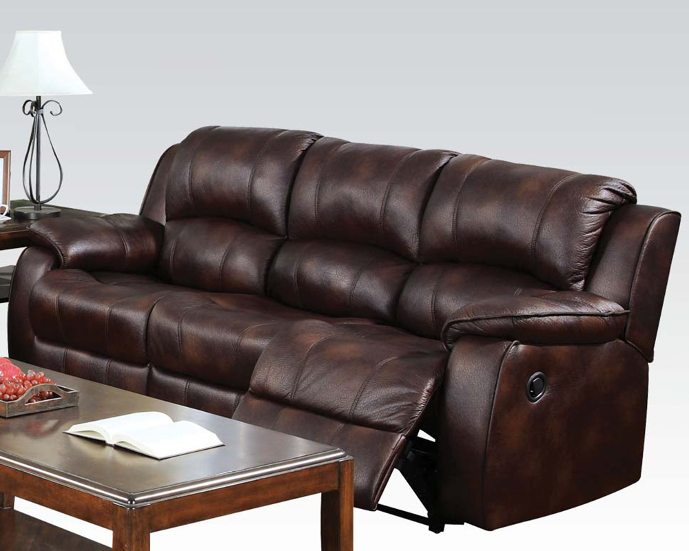 3pc Brown Acme Motion Sofa Set Recliner 50510 Hot
