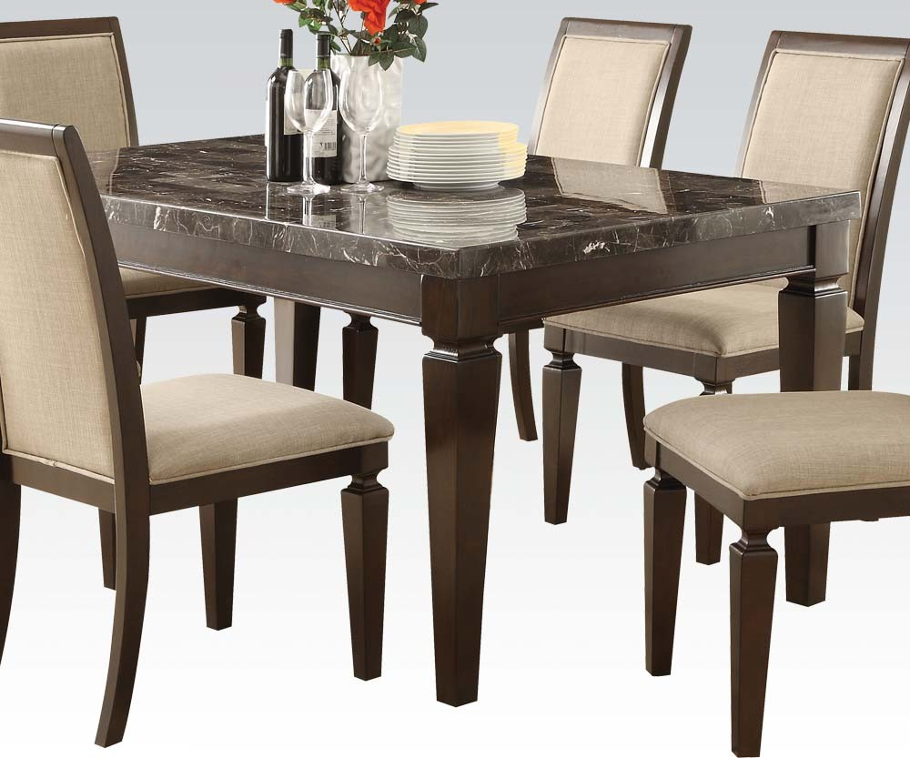 Casual Microfiber Dining Set Acme 70485 Hot Sectionals