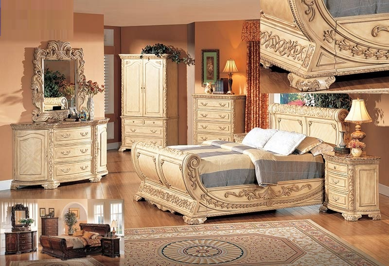 Formal Furniture Queen 4pc Bedroom Set Beige Hot Sectionals