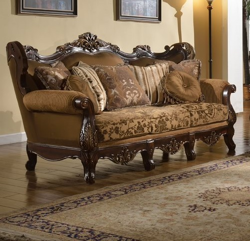Traditional Formal Sofa Set Brown Couch Sofa Hot Sectionals