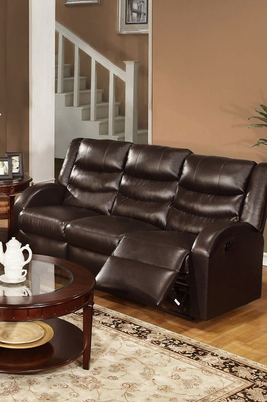 Poundex Reclining Sofa Set Leather F6654 Hot Sectionals