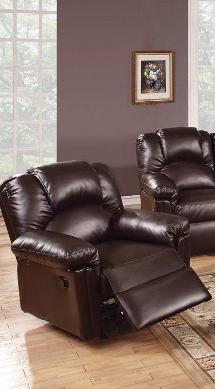 Poundex 3pc Sofa Set Leather Sofa Recliner F6674 Hot