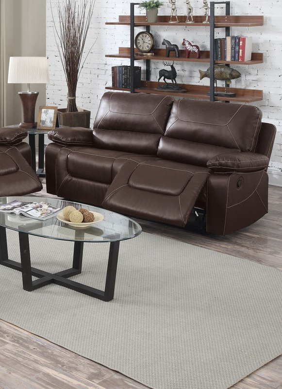 Reclining Sofa Set Modern Couch Poundex F6727 Hot Sectionals