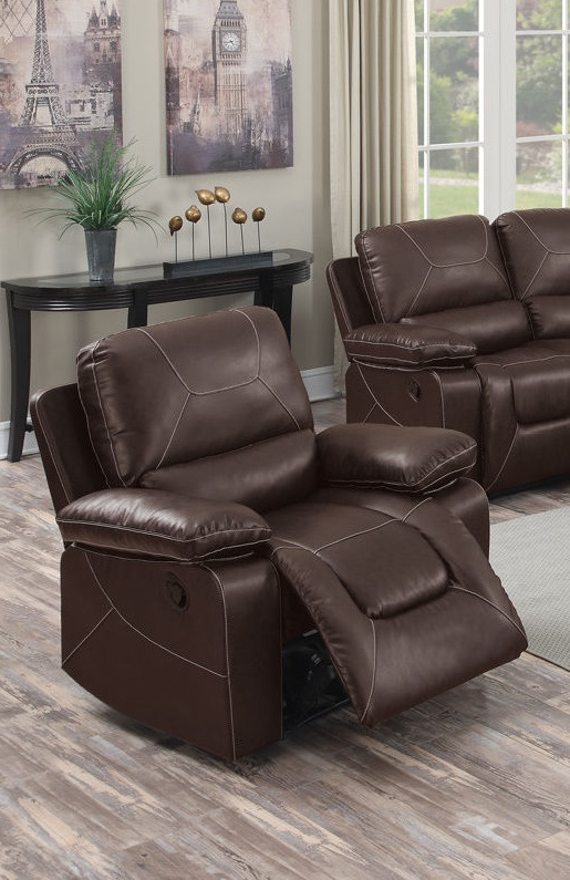 Reclining Sofa Set Modern Couch Poundex F6727 Hot