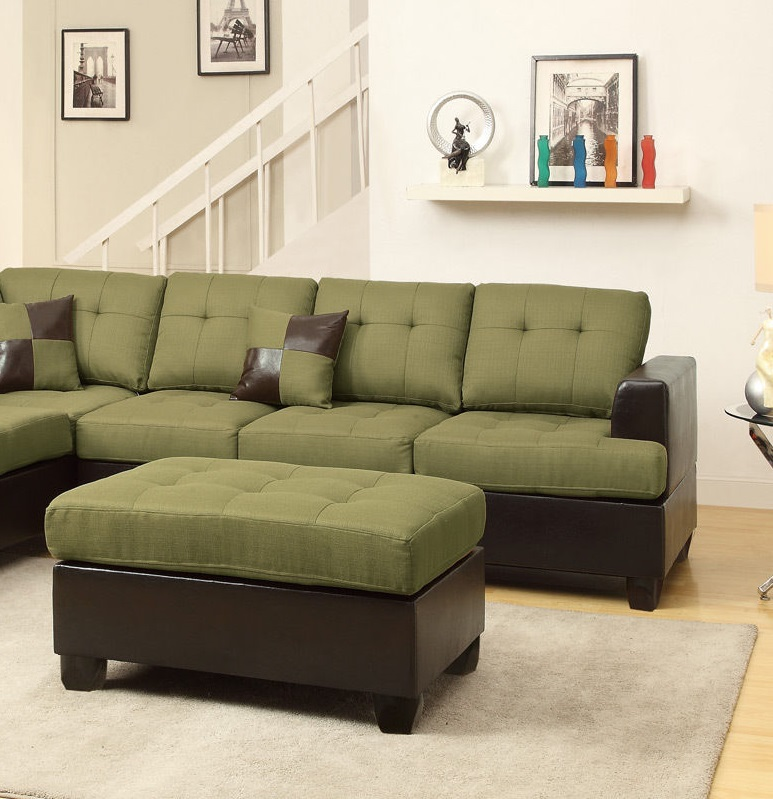 : green microfiber sectional - Sectionals, Sofas & Couches