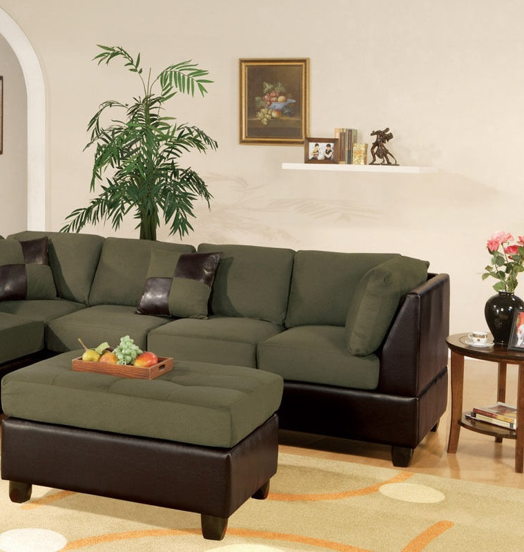 Reversible Chaise Leather Sectional Poundex Hot Sectionals