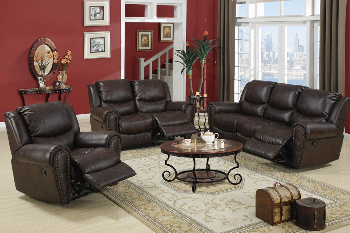 Marvelous 3Pc Motion Sofa Set Recliner Leather Sofa Couch Chair F7737 Machost Co Dining Chair Design Ideas Machostcouk