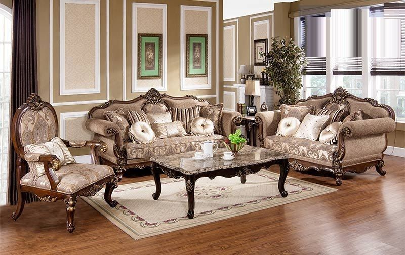 Antique Traditional Sofa set 6 Pc Living room set #MC1428