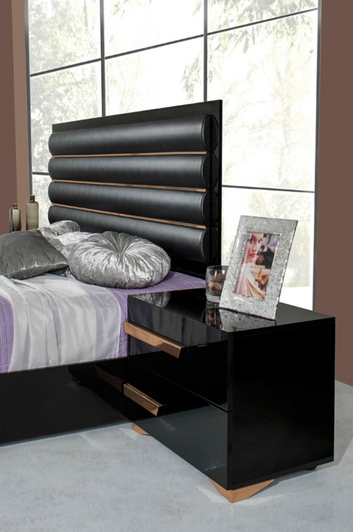 Modern Italian Bedroom Furniture Sets: VIG Furniture 5Pc Queen Bedroom Set #VGACROMEO