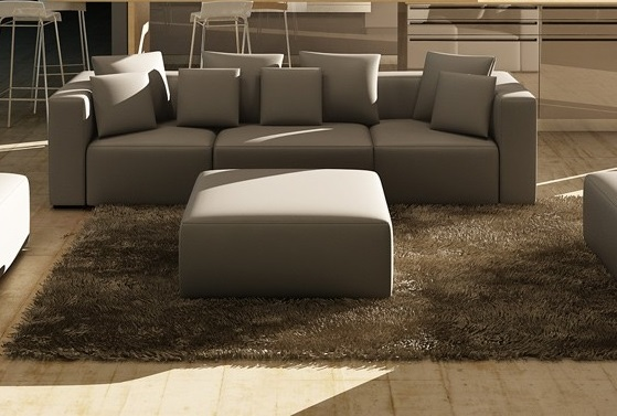 Leather Sectional Sofa Vig Furniture Vgev206 Gry Hot