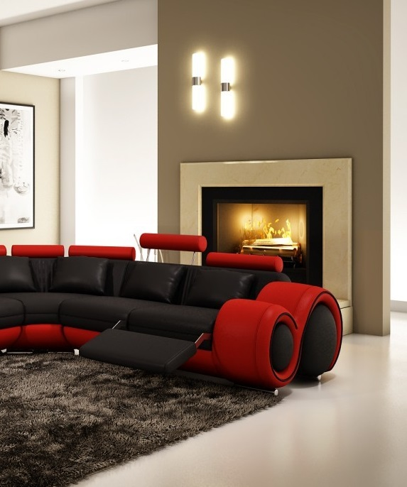 Vig Furniture Modern Contemporary Black Sectional