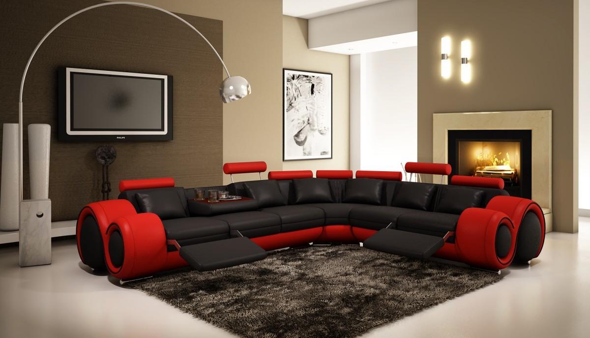 VIG Furniture Modern Contemporary Black Sectional VGEV4087 5