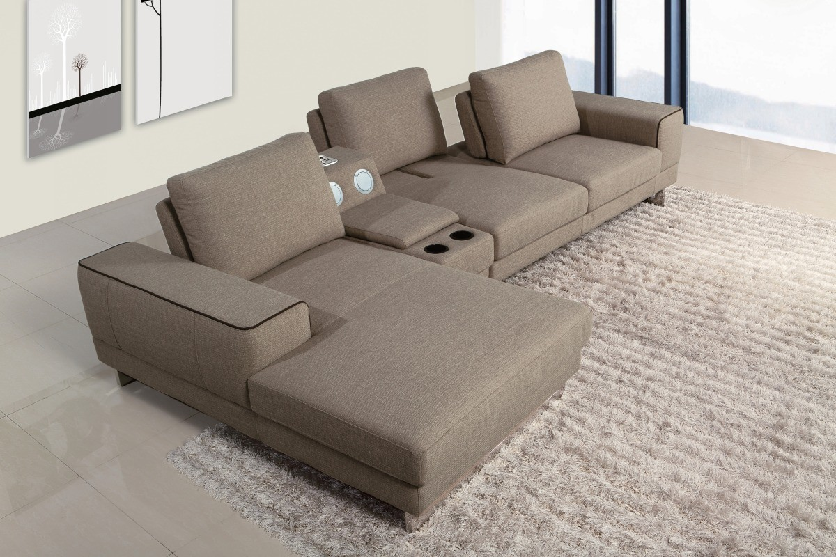 Sectional Console Sofa Chaise VIG Furniture #VGMB1374 | Hot Sectionals