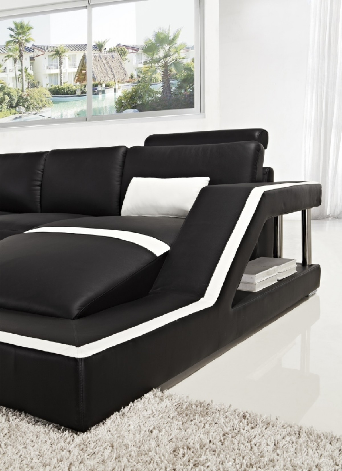 VIG Furniture Modern Sectional Black Couch #VGYIT271
