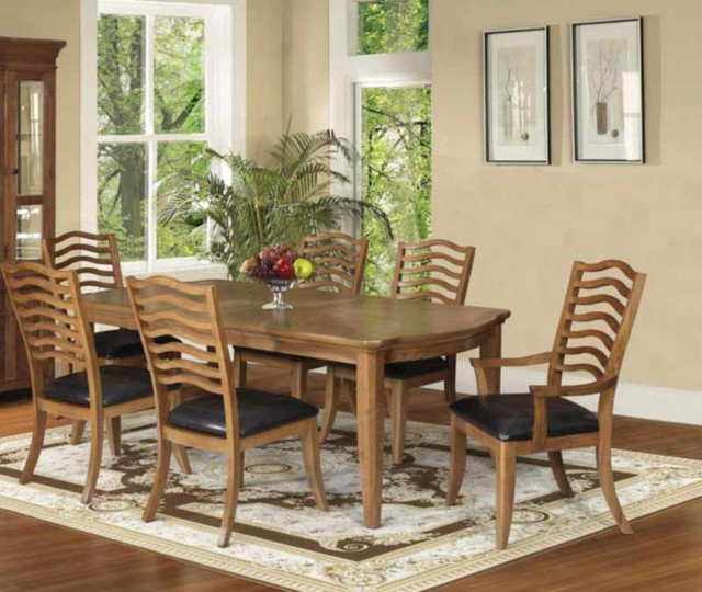 Traditional Cushion Dining Set Acme 60715 Hot Sectionals