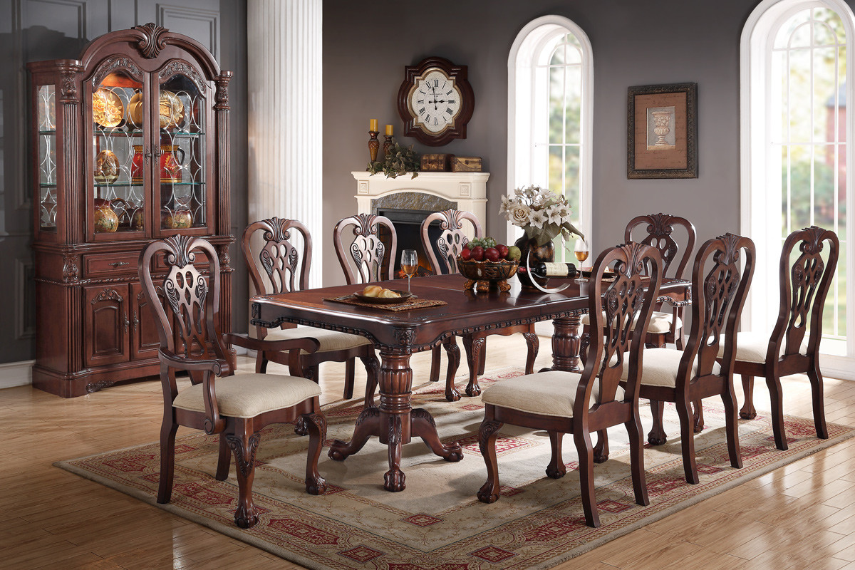 Antique Formal Dining Poundex #F2198