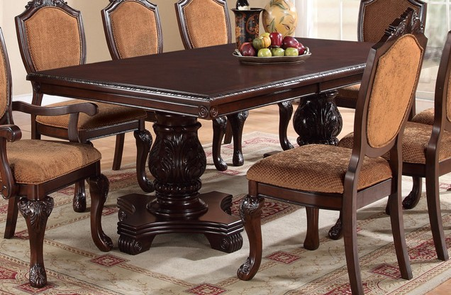 Formal 9pc Dining Faux Leather Poundex Hot Sectionals
