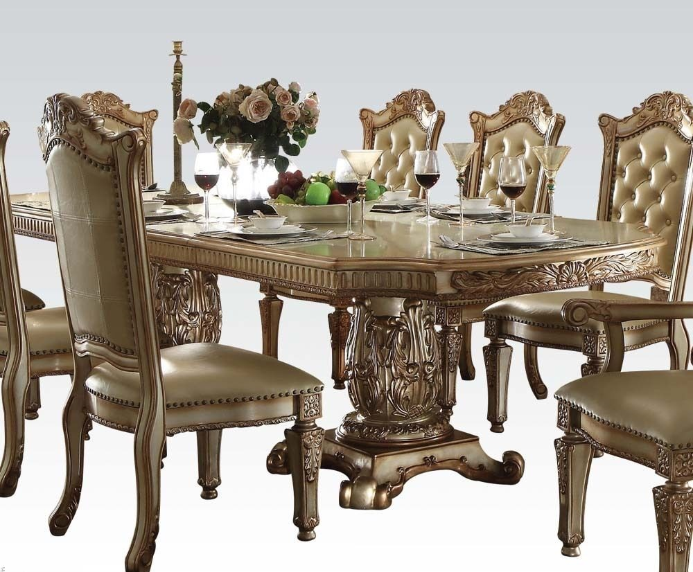 Traditional Vendome Dining Set, Acme #63000