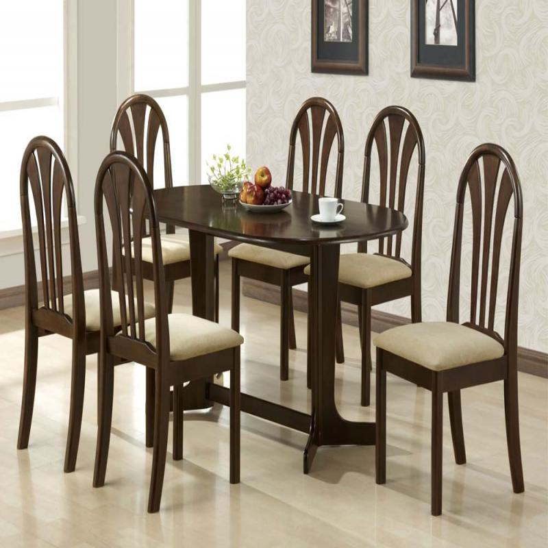 Casual Dining Room Furniture Sets: Contemporary Casual Style Espresso Finish Dining Room