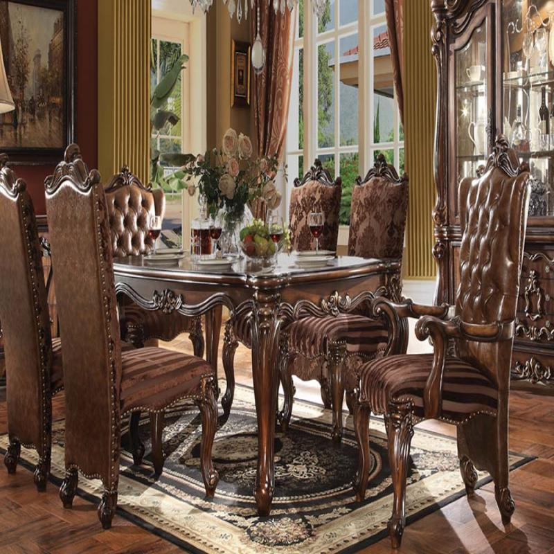 Traditional Dining Room Set: Traditional Royal Luxury Design Antique Cherry Oak Dining