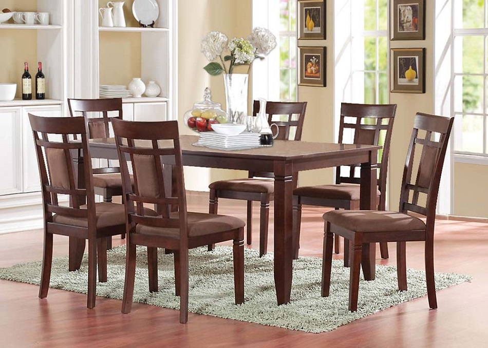 dimensions dining table 36 w x 60 l 6 x dining side chair 38 h