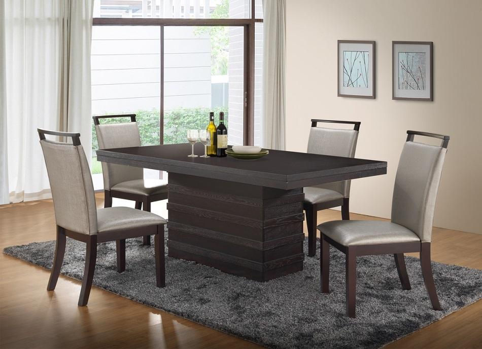 beautiful design modern casual hardwood gray dining room