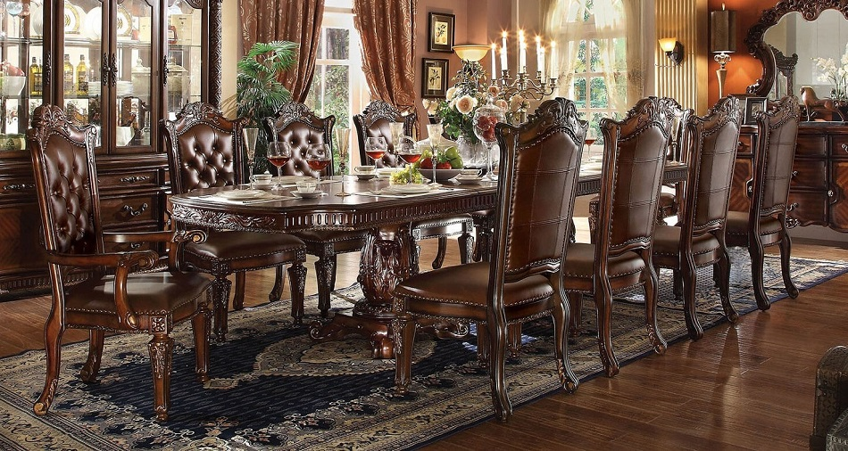 Vendome Formal Antique Traditional Cherry Dining Room