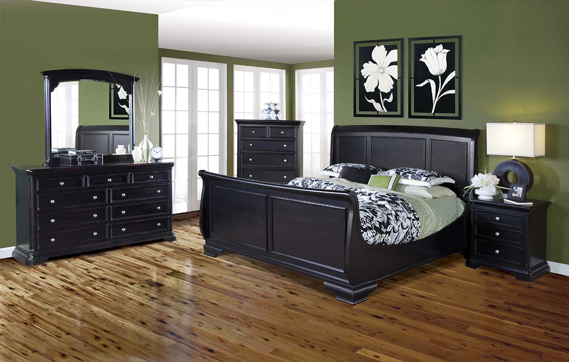 Eastern king size bed wooden furniture contemporary - King size contemporary bedroom sets ...