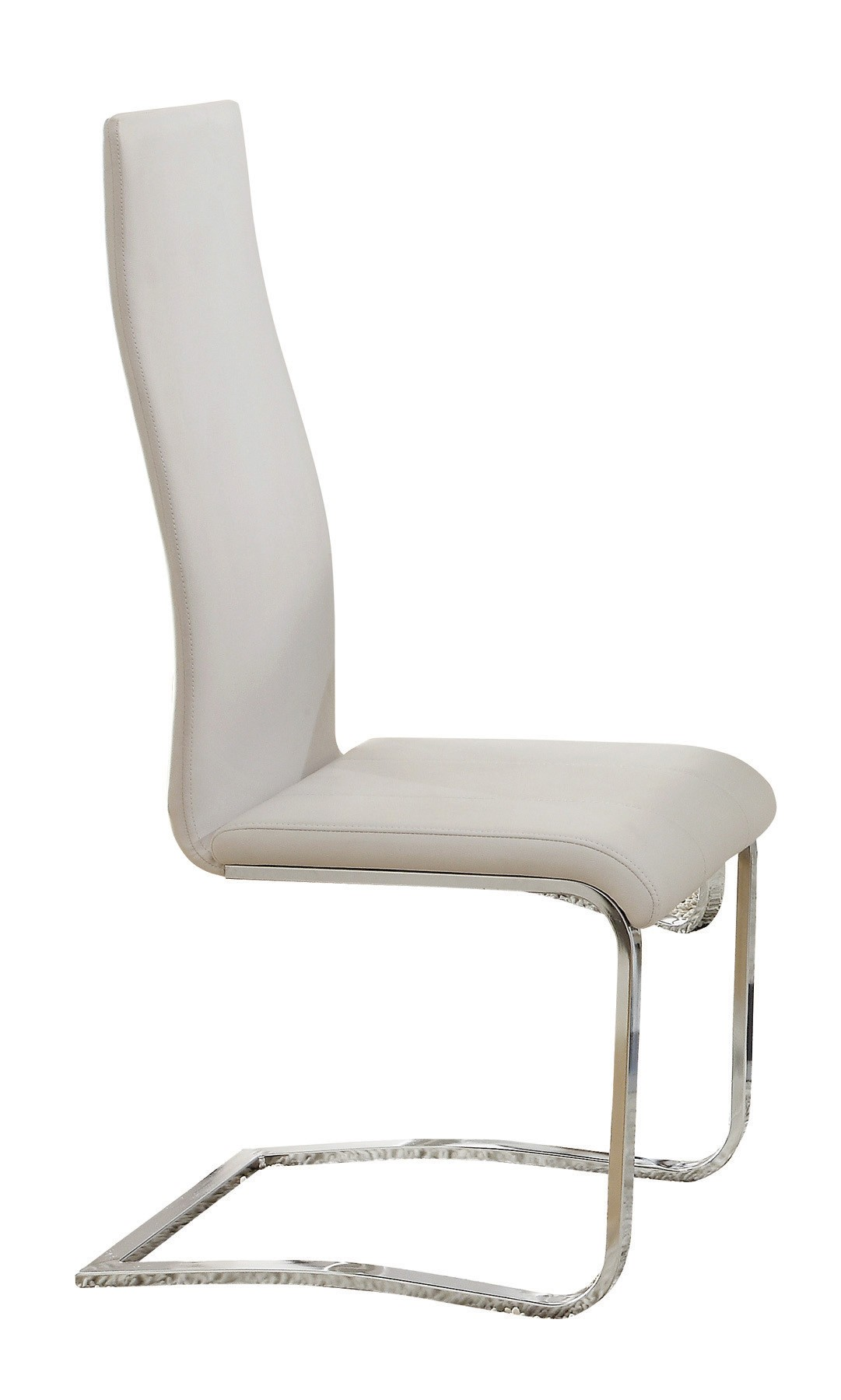 Mid century modern dining faux leather white dining chairs for Mid century modern leather chairs