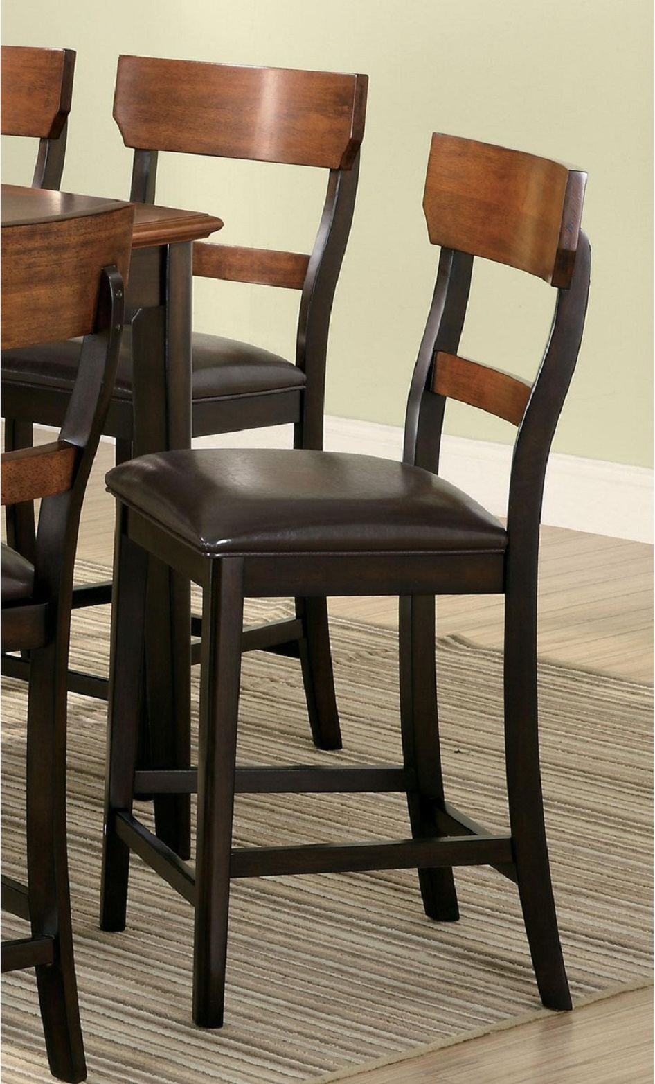 Franklin Oak and Brown Counter Height Dining Chair by ...