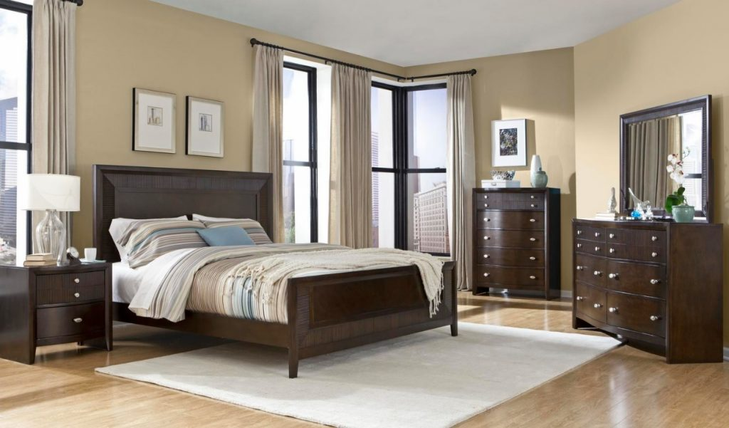 modern 1pc espresso finish king size bed bedroom furniture boldly