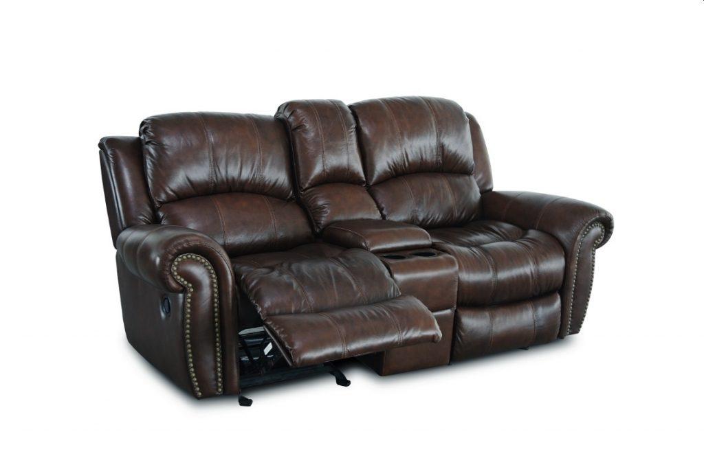 Contemporary Burgundy Leather 3pc Reclining Sofa Set Sofa