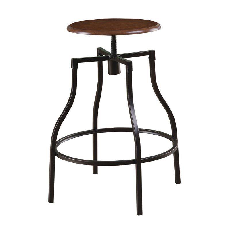 New Modern Bar Stool Adjustable Height Durable Wood Top  : 100199 3 from www.ebay.com size 800 x 800 jpeg 29kB