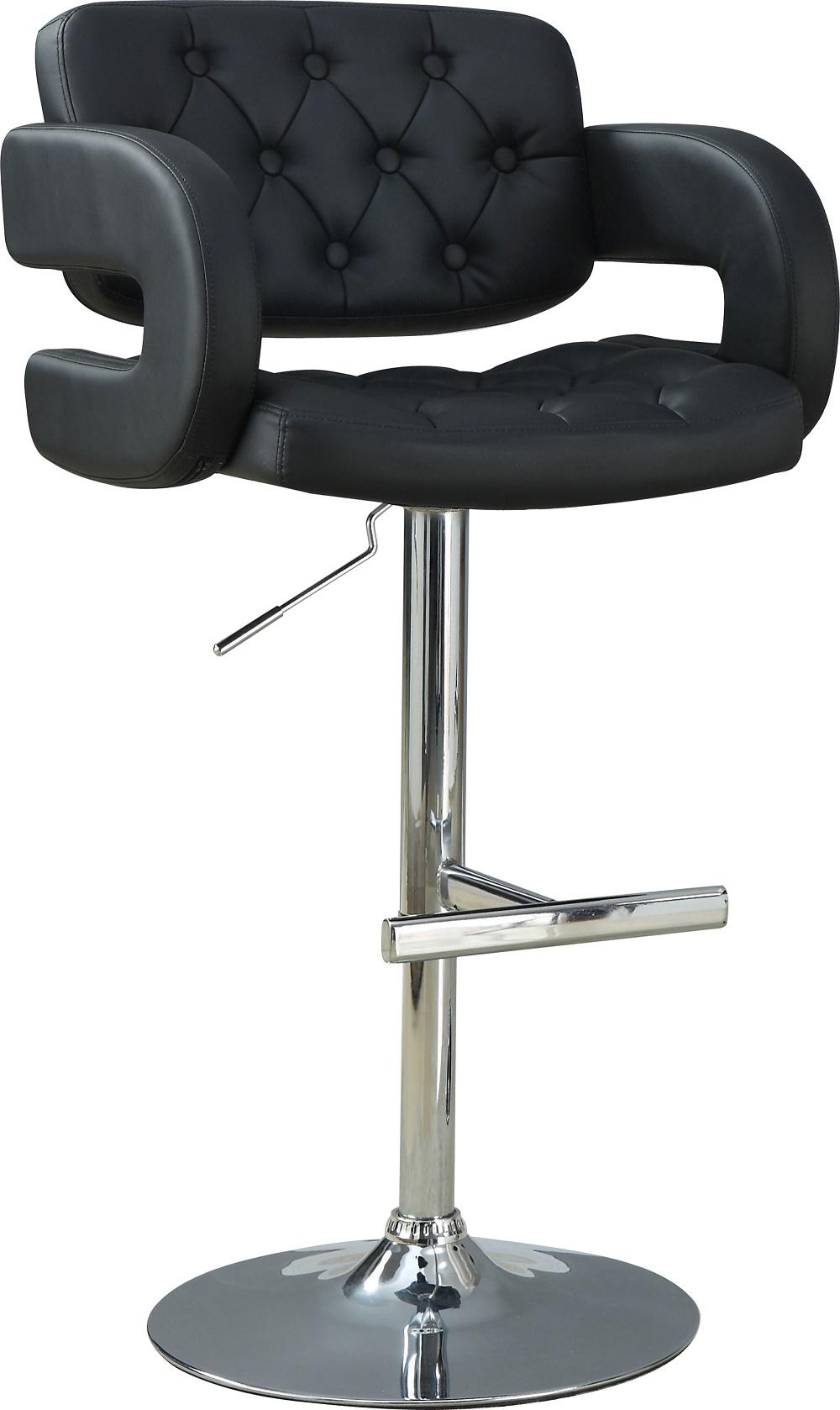 Coaster Black Bar Stool Arm Chair Swivel Adjustable Height