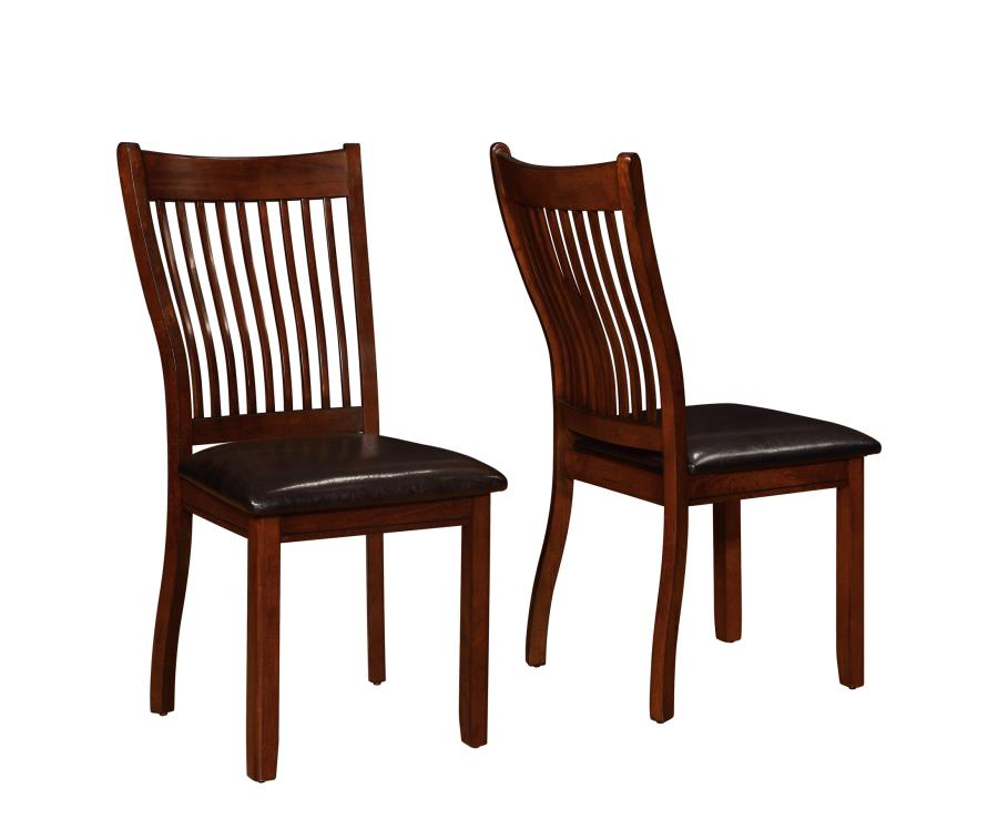 Set of 4 side chair reddish brown color 105752 for 4 dining room chairs ebay
