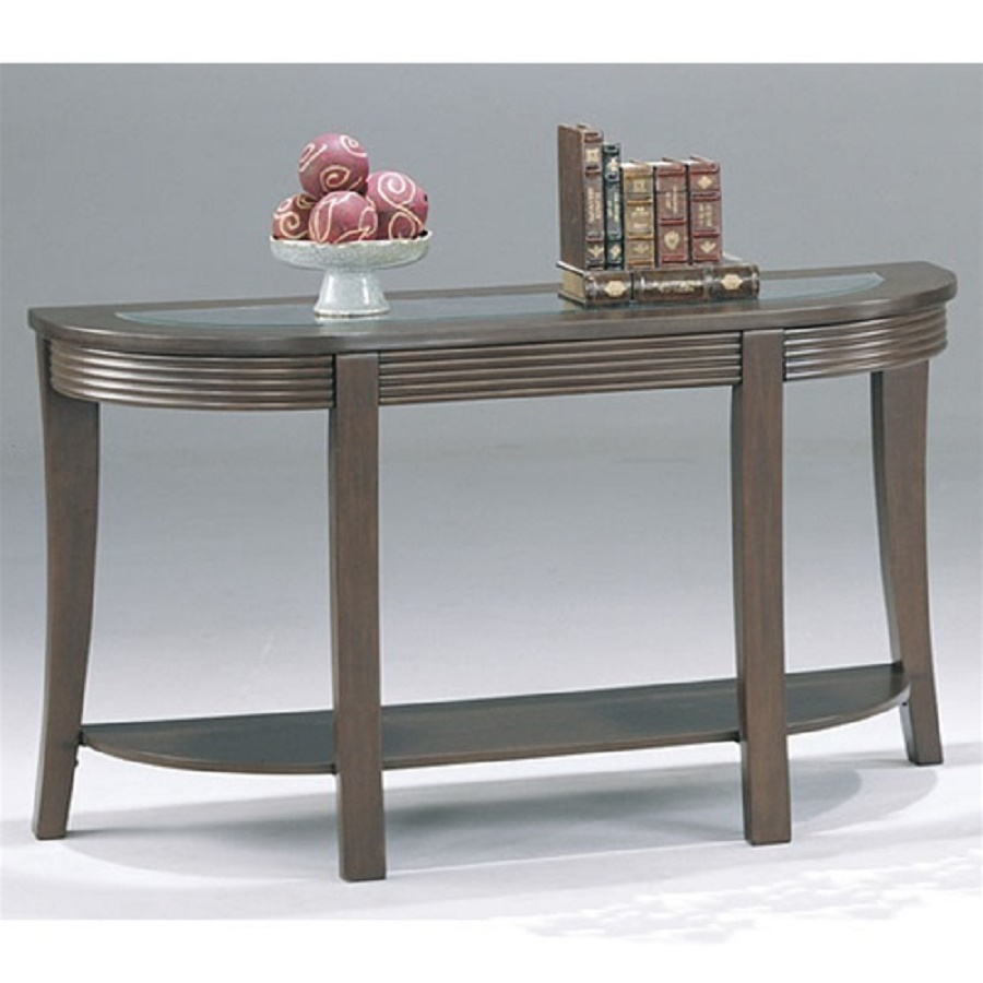 Coaster simpson sofa table glass top transitional console for Sofa table tennis
