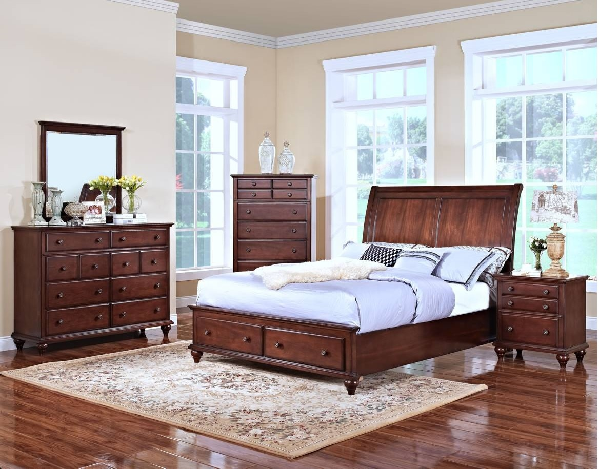 Modern eastern king size bed footboard base storage 2 drawer bedroom furniture ebay for Bedroom set with storage drawers