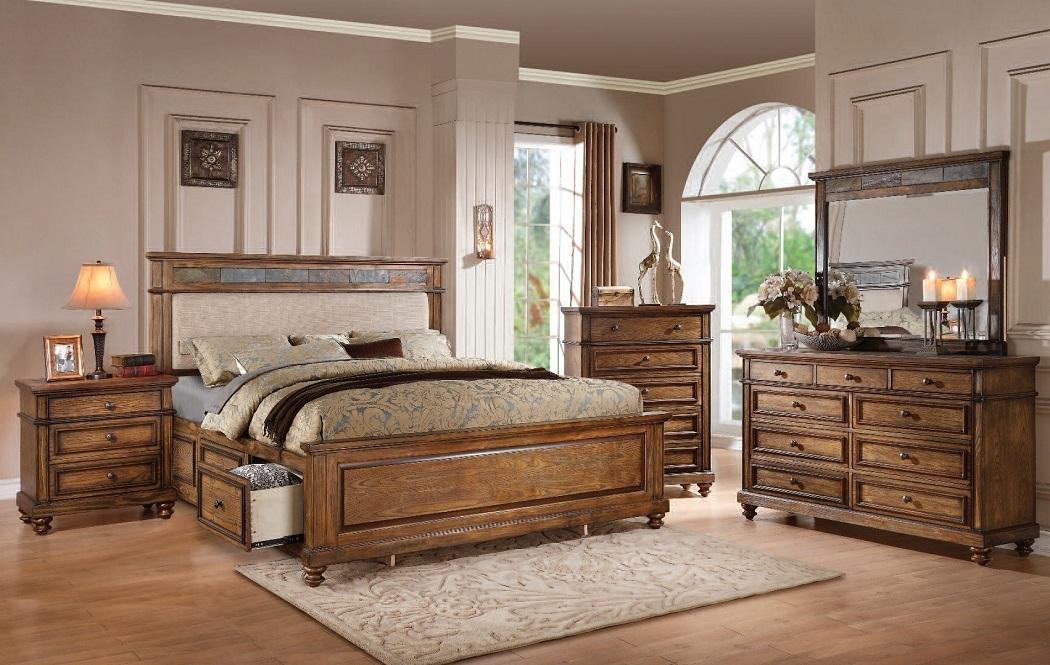 Queen size storage side rails bed bedroom decor furniture - Queen size bedroom set with storage ...