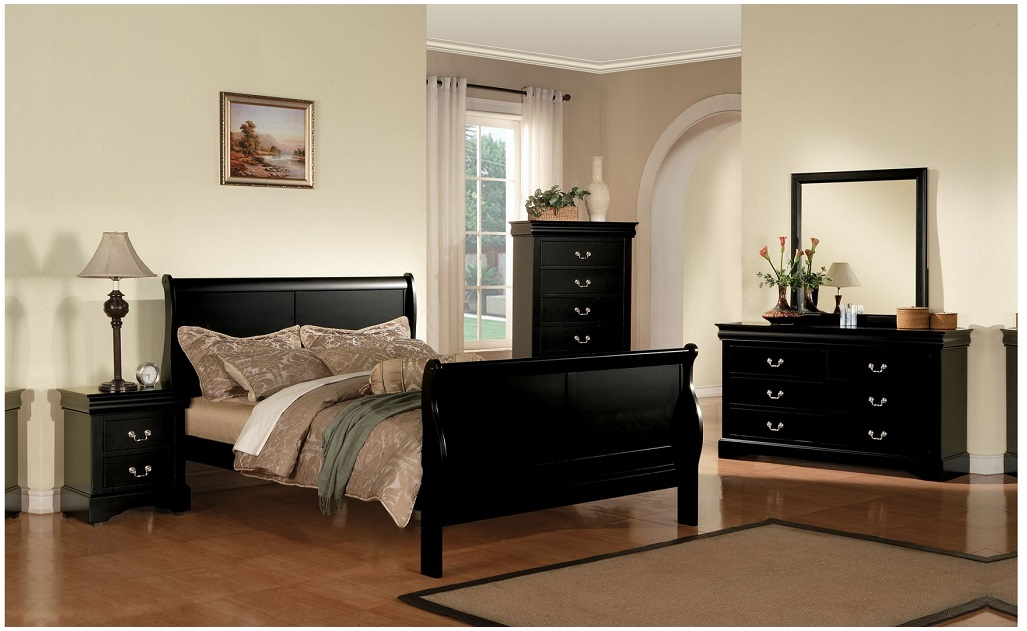 full size bedroom furniture 4pc set contemporary black furniture