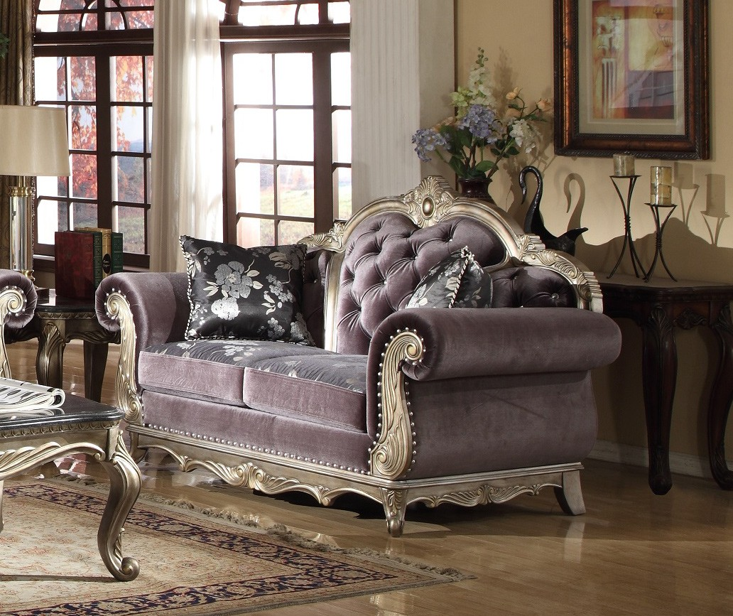 Traditional Sofas Living Room Furniture: 2pc Traditional Sofa Living Room Furniture