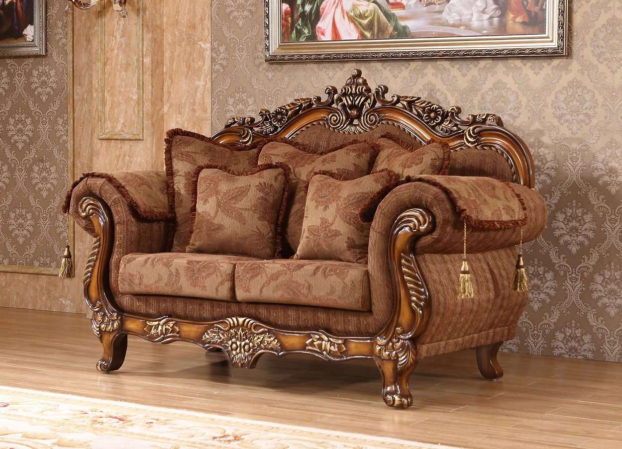 2pc Traditional Sofa Set Living Room Furniture