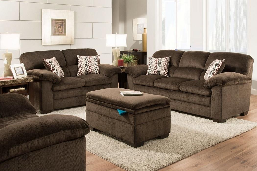 Modern Design Living Room Furniture Sofa Loveseat Pewter